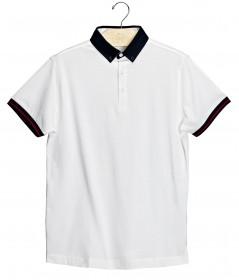 Imagem - Camisa Polo | Branco/Marinho - 2.980