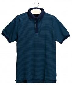 Imagem - Camisa Polo Aragäna Masculina Listrada | Marinho/Verde - 2.981