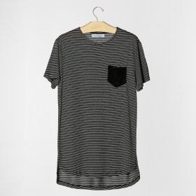 Imagem - Camiseta Aragäna Masculina c/Bolso | Preto - 2.2147