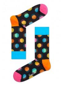Imagem - Meia Happy Socks Bolinhas | Azul/Rosa/Laranja - 2.761