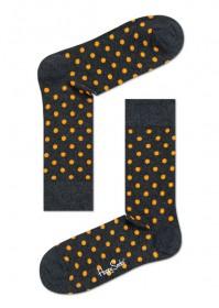 Imagem - Meia Happy Socks Bolinhas | Mescla/Amarelo - 2.754