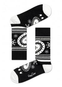 Imagem - Meia Happy Socks Estampada | Preto/Branco - 2.667