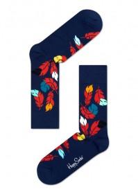 Imagem - Meia Happy Socks Folhas | Azul/Colorido - 2.658