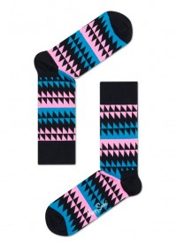 Imagem - Meia Happy Socks Formas | Marinho/Azul/Rosa - 2.662