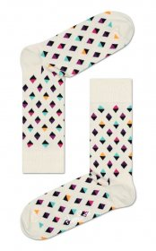 Imagem - Meia Happy Socks Losango   Nude - 2.2102