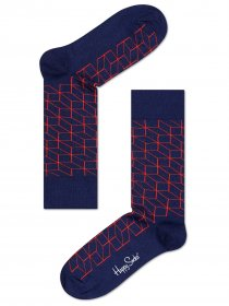 Imagem - Meia Happy Socks Optic | Azul Escuro - 2.2111