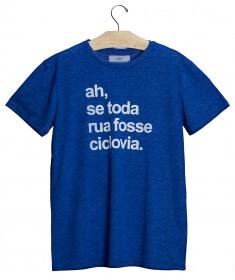 Imagem - T-shirt Ah, Se Toda Rua Fosse Ciclovia Azul - 2.944