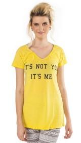 Imagem - Camiseta Aragäna Feminina Amarela It's Not You It's Me - 1.586