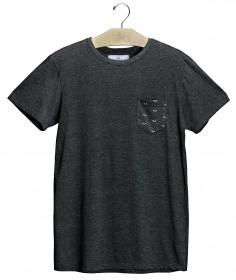 Imagem - T-shirt Bolso Olho | Cinza Escuro - 2.1081