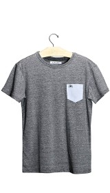 Imagem - Camiseta Aragäna Masculina Bolso Oxford Mescla Escuro/Azul     - 2.2092