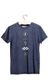 Imagem - Camiseta Aragäna Masculina Cactos | Mescla/Azul Marinho - 2.2094