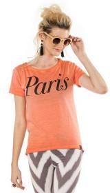 Imagem - Camiseta Aragäna Feminina Mullet Coral Paris - 1.590