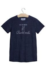 Imagem - Camiseta Aragäna Masculina Seja Mais Buena Onda Azul Marinho Mesclado - 2.940