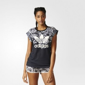 Imagem - T-shirt Adidas Florido | Preto/Branco - 2.1924