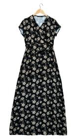Imagem - Vestido Longo Aragäna Feminino Decote em V | Flores - 2.1166