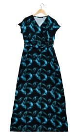Imagem - Vestido Longo Aragäna Feminino Decote em V | Plumas - 2.1167
