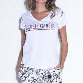 Imagem - Camiseta Labellamafia Neutral Flowers Calabasas