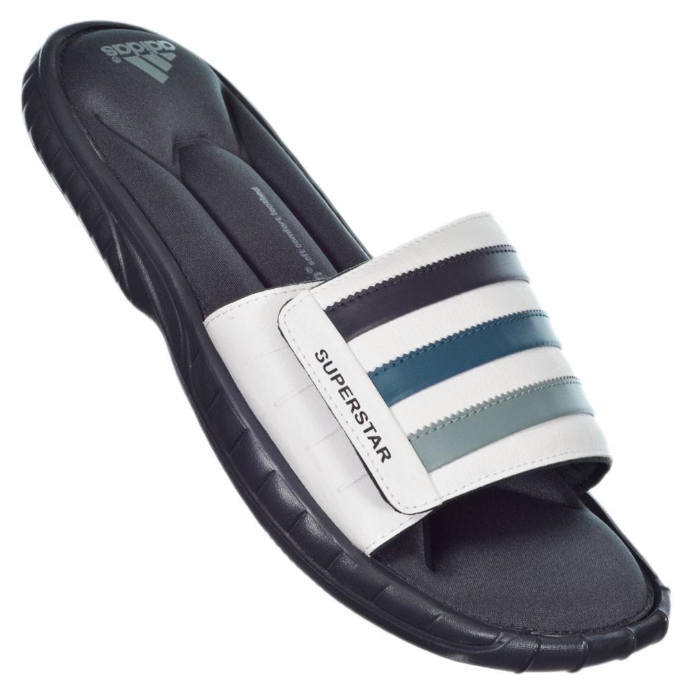 the latest 16094 d520c chinelo adidas superstar 3g azul