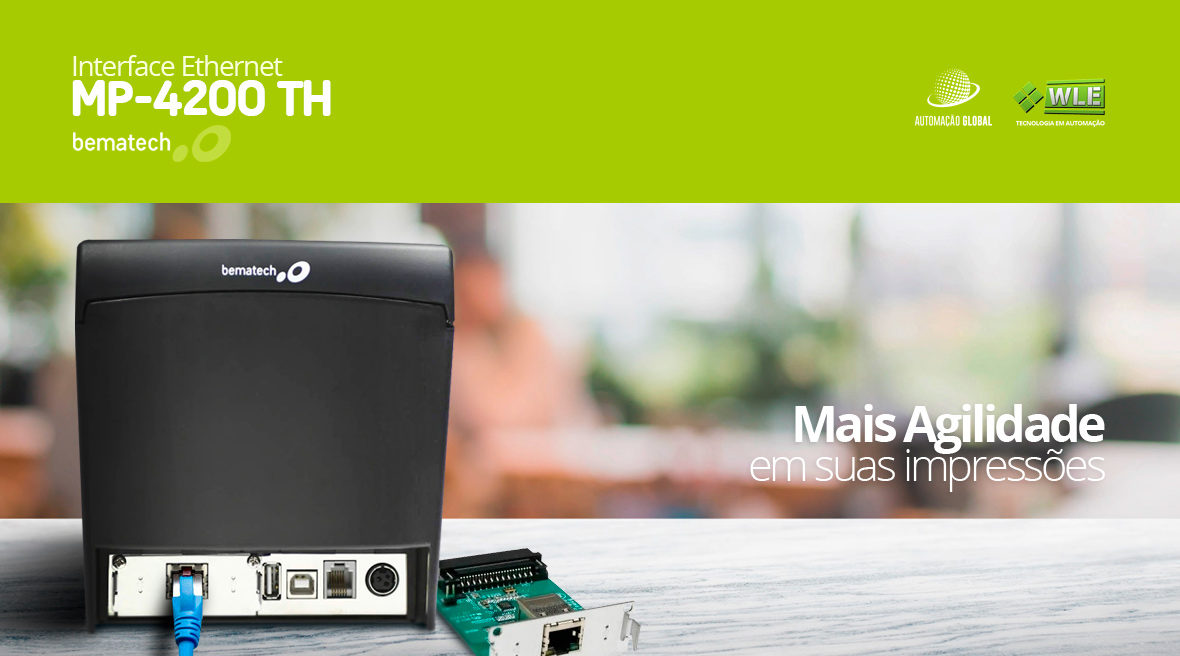 Placa Interface Ethernet para Impressora MP-4200 TH Bematech