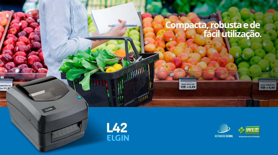 Impressora de Etiquetas Elgin L42 USB e Serial