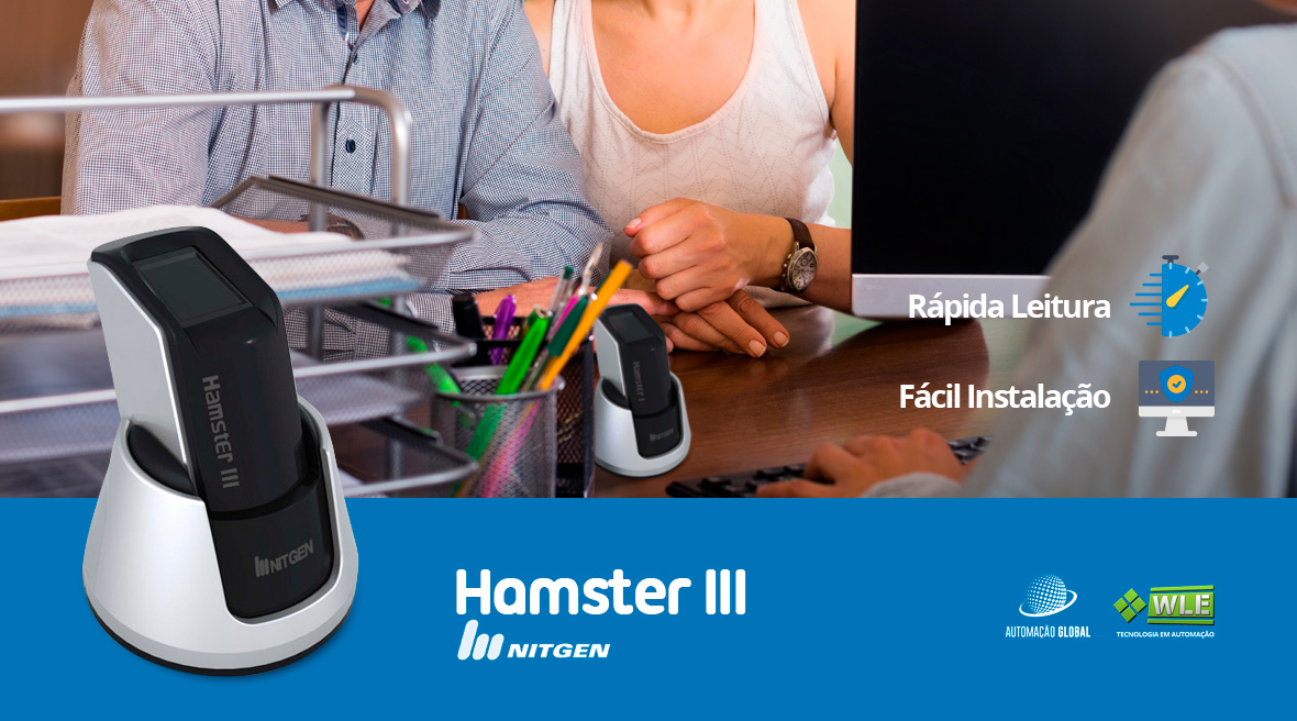 Leitor Biométrico Hamster III Nitgen