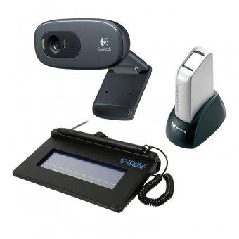Imagem - Kit Impressão Carteira de Trabalho e Previdência Social CTPS ( Biometria + WebCam + Coletor de Assinaturas)