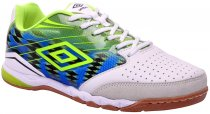 Imagem - Tênis Indoor Masculino Umbro Pro 2 Branco/Lime/Azul - 019008200061292