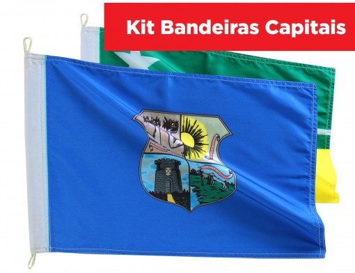 Kit Bandeiras Capitais