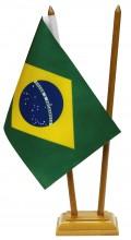 Bandeira de Mesa Brasil e País
