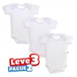 Body de Bebê Branco Menina Kit Promocional - 8502