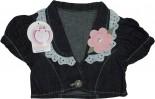 Bolero Jeans Bebê Flora - 4828