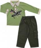 Conjunto  de Camisa Polo e  Calça com Estampa Avião- ref. 5712