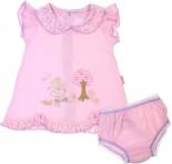 Vestido Para Bebê Bordado Com Calcinha 5250