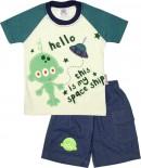 Conjunto de Camiseta e Shorts Space Ship 4835