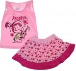 Conjuntinho Camiseta e Saia The Flintstones 5945