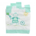 Cortina de bebê para varão bordada kit 5 pçs - 8439