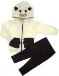 Blusa de Moletom Flanelado com Capuz e Legging - Bebê Pets REF. 5619