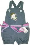 Jardineira Jeans para Bebe Boneca - 4344