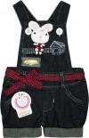 Jardineira Jeans - Bebê Coelhinha REF. 5020