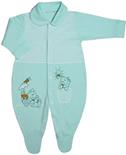 Macac�o de Beb� Verde para Menino 4019