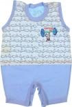 Macacão de Bebê Curto Dino e Bam Bam REF. 6490