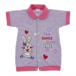 Macac�o Curto para Beb� Menina Dance 9833