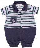 Macacão Curto Listrado Jeans - REF. 6224