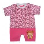 Macacão de Bebê Curto Menina Estampado