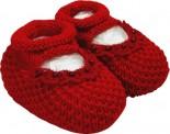 Pantufa de Lã para Bebê c/ Rendinha 5162