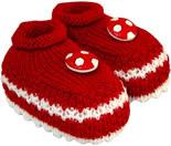 Sapatinho de Lã de Bebe Futebol 3681