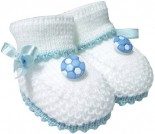 Pantufa para Bebê Botinha Lã Branca 3312
