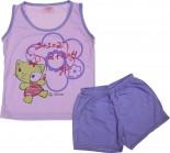 Pijama Infantil - Gatinha e Flor REF.  6128