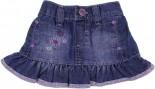 Mini Saia Jeans para Bebê - Bordado REF. 6745