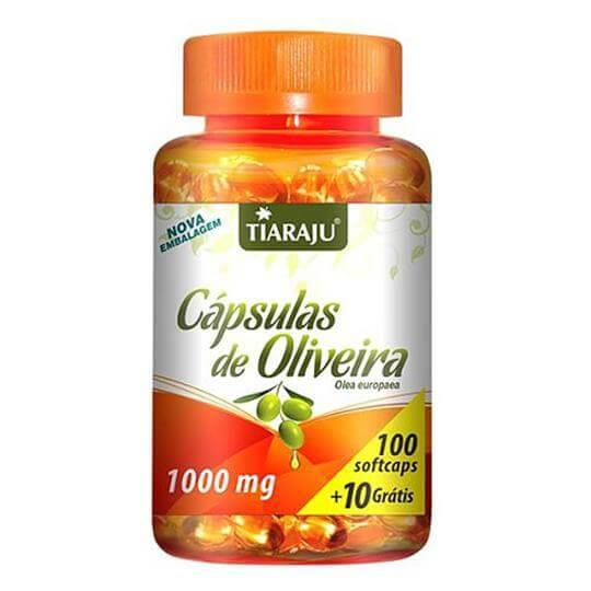 C�psulas de Oliveira 1000mg (100caps + 10 Gr�tis)  - Tiaraju